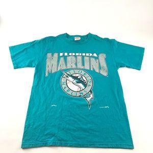 90s Florida Marlins MLB Graphic T Shirt